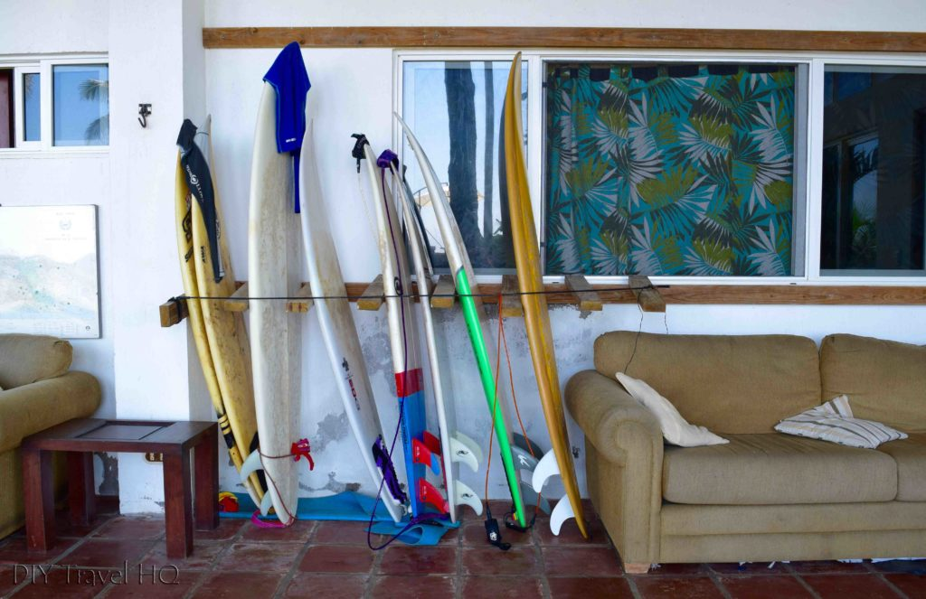 Rent surfboards at Hostal Los Almendros