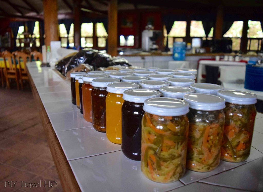 Homemade jams at Hotel Perkin Lenca