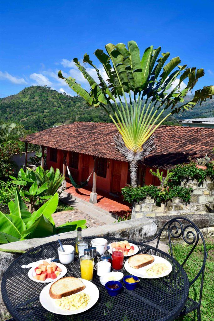 Iguana Azul Breakfast at Casa de Cafe B&B