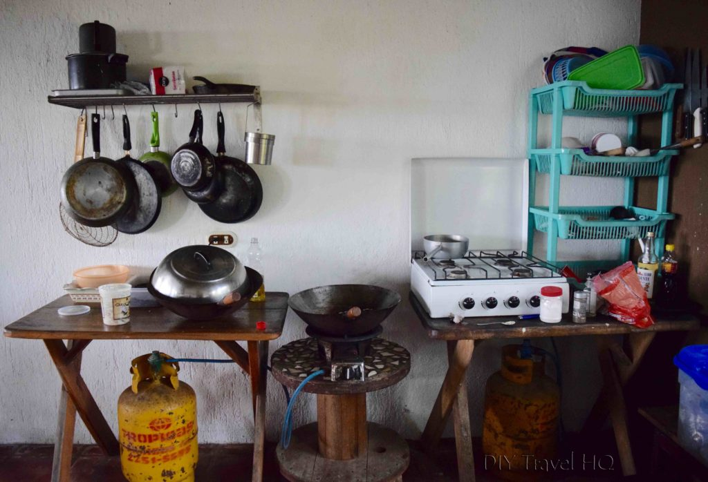 Kitchen at Hostal Los Almendros