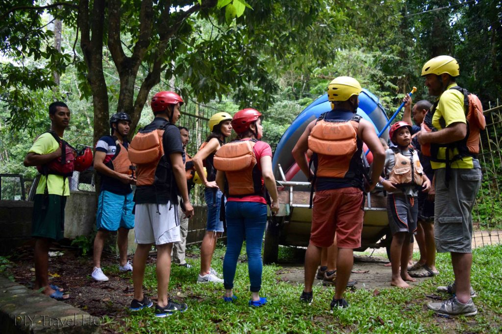 La Moskitia Ecoventuras Suited Up for White Water Rafting on Rio Cangrejal