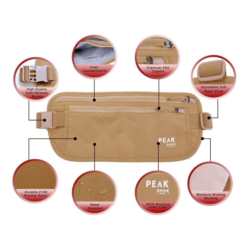 PEAK RFID Blocking Money Belt