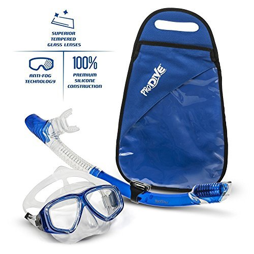 ProDive Dry Top Snorkel & Silicone Mask Set