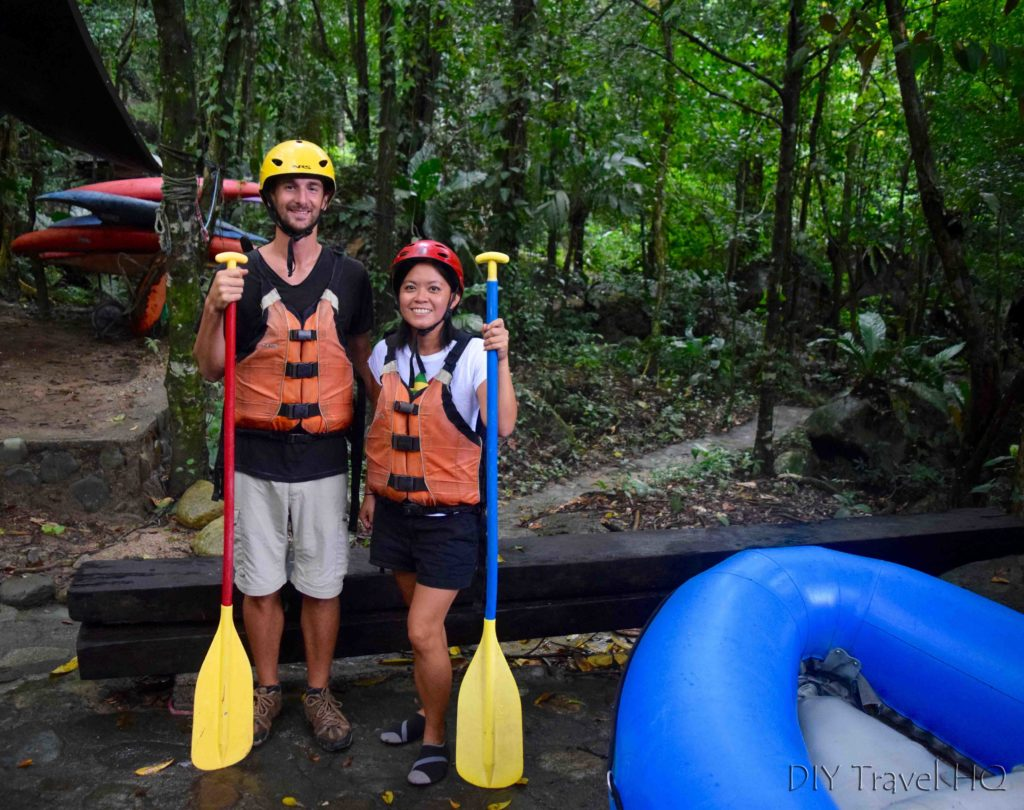 Ready to Go White Water Rafting on Rio Cangrejal