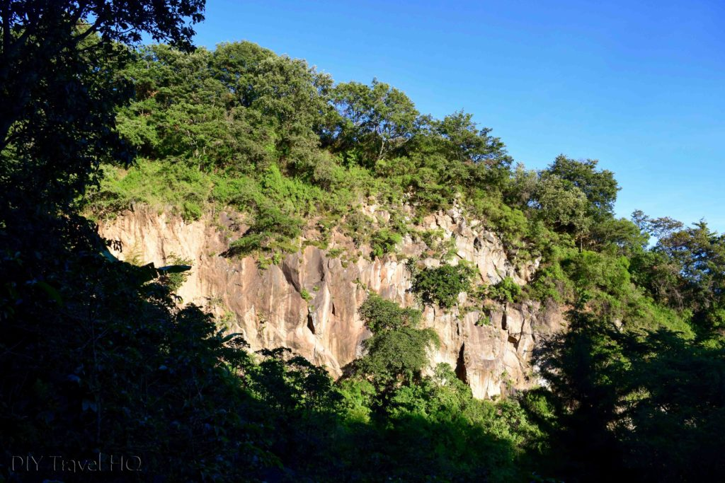 Volcan San Pedro Rock Cliff Near Dry Stream Crossing