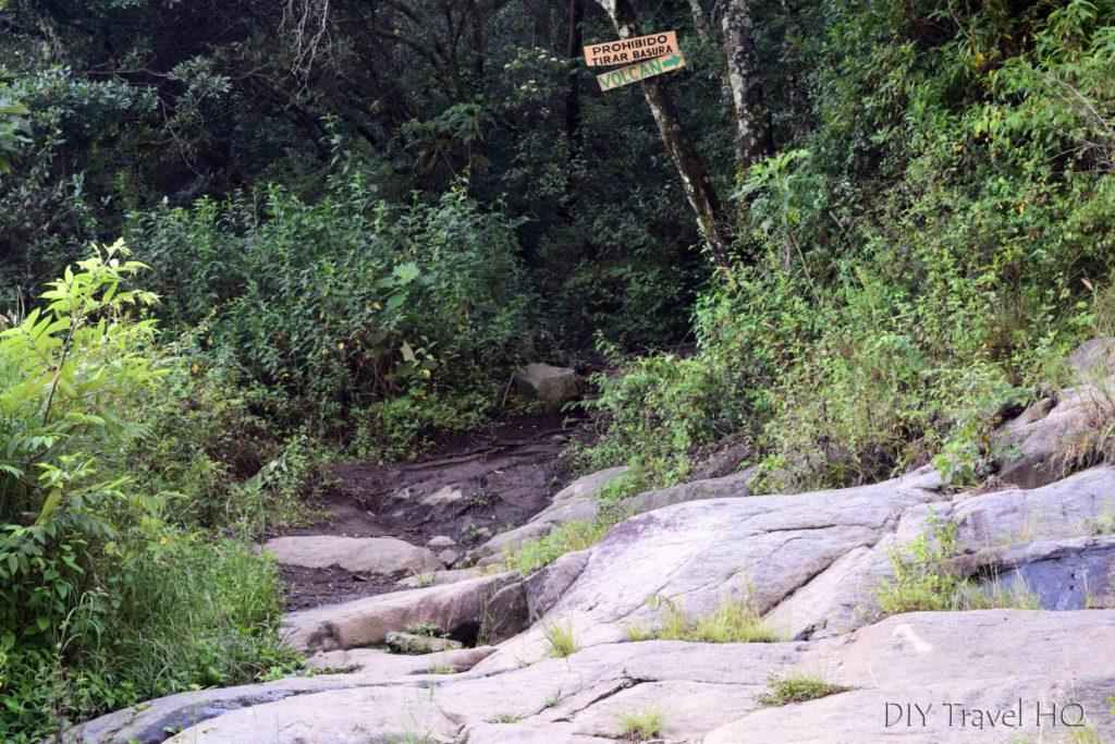 Volcan San Pedro Trail Signs