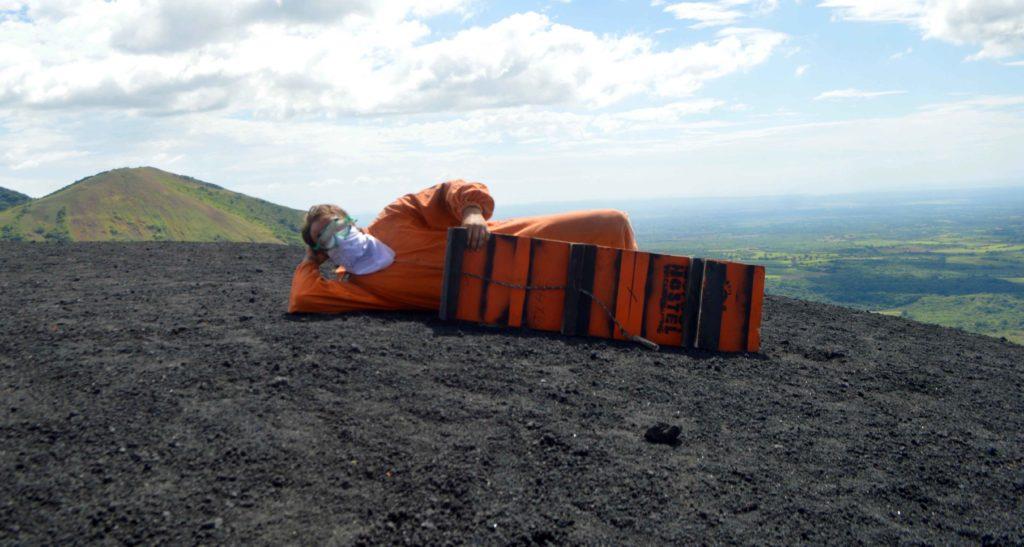 Bigfoot Hostel Invents Volcano Boarding