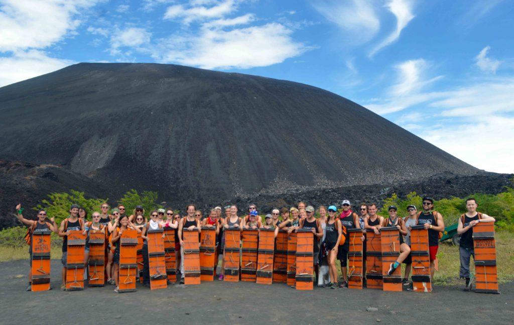 Bigfoot Hostel Volcano Boarding Group Shot