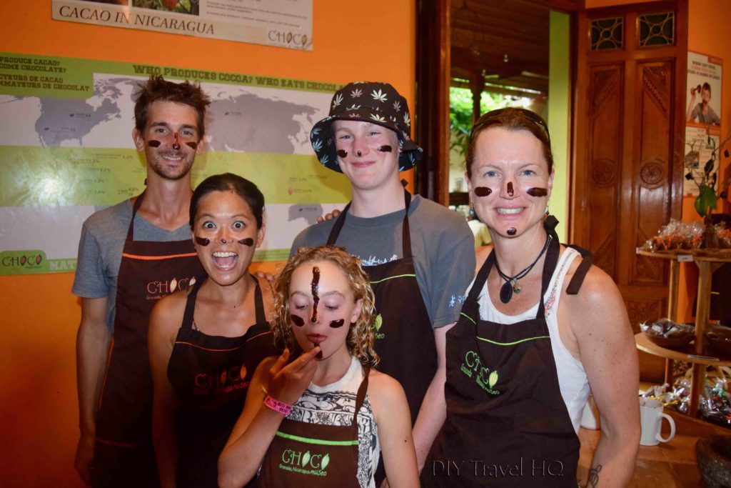 Chocolate War Paint at Choco Museo
