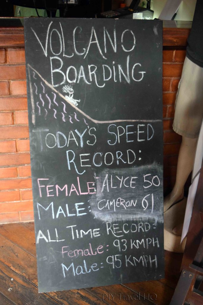 Daily and All Time Volcano Boarding Speed Records