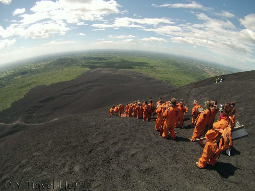 Forming Volcano Boarding Lines on Cerro Negro