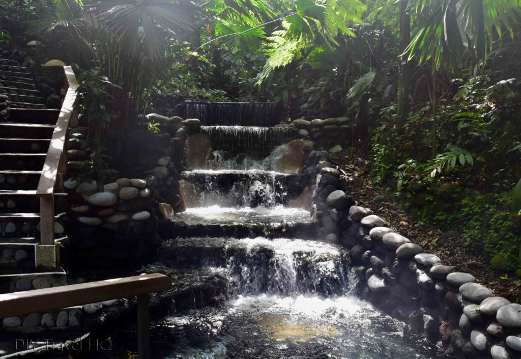 EcoTermales Hot Springs Cascading Waterfalls
