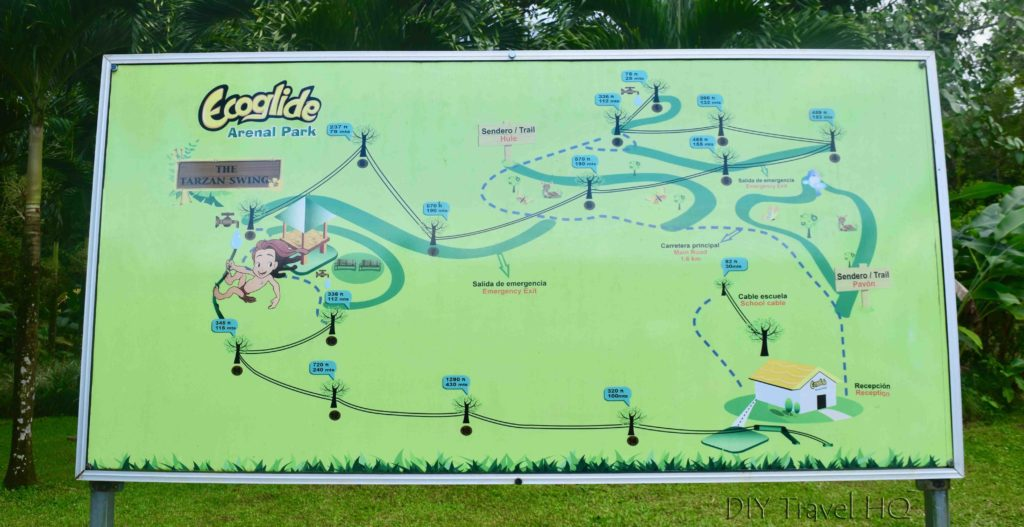 Ecoglide zip line map