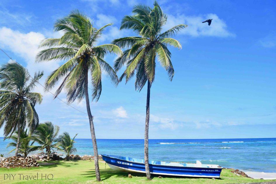 Headland in front of Hotel Morgan Big Corn Island