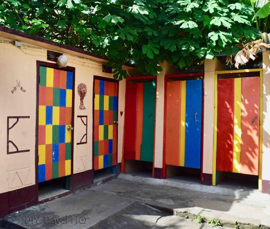 Dorm showers at Hospedaje Central