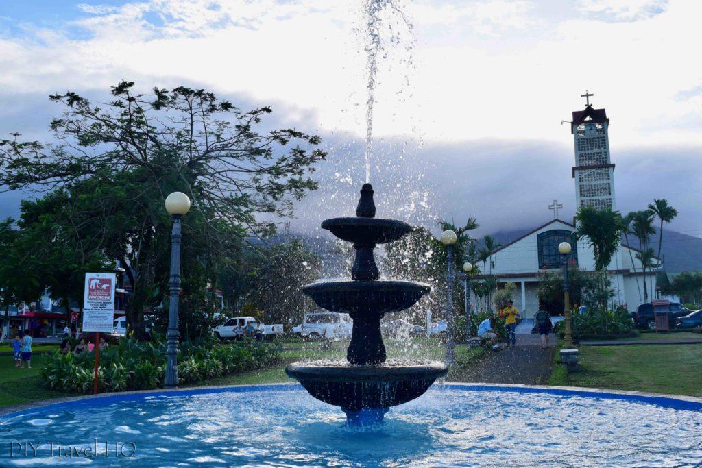 Main plaza La Fortuna