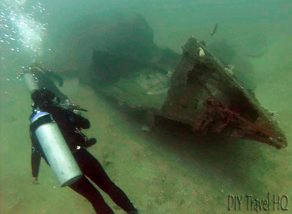 Los Meros Wreck in Playas del Cocos