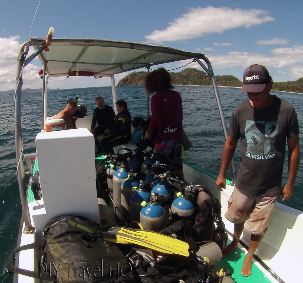 Prepping for 2nd Dive with Sirenas Diving
