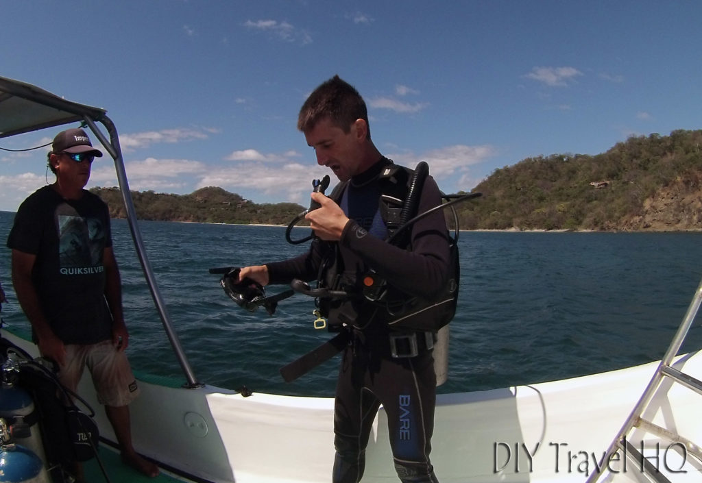 Testing Sirenas Diving Dive Equipment