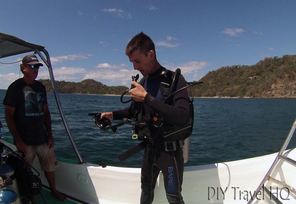 Testing Sirenas Diving Dive Equipment