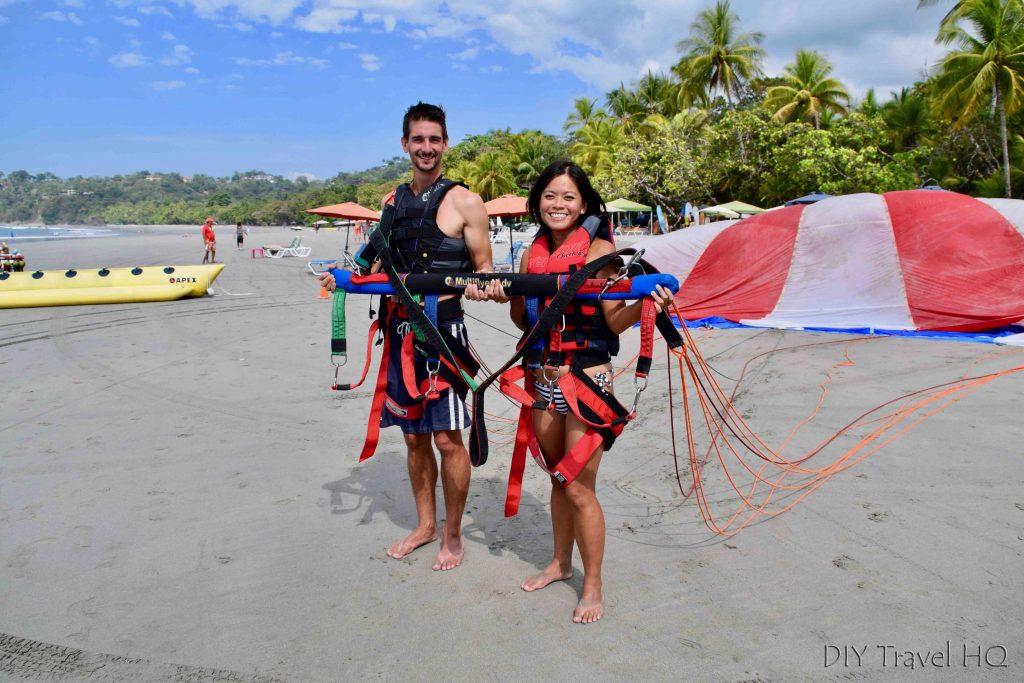 Parasailing Manuel Antonio beach