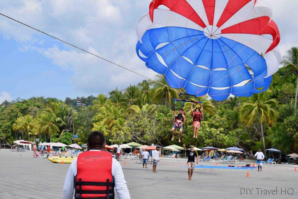 Take off parasailing