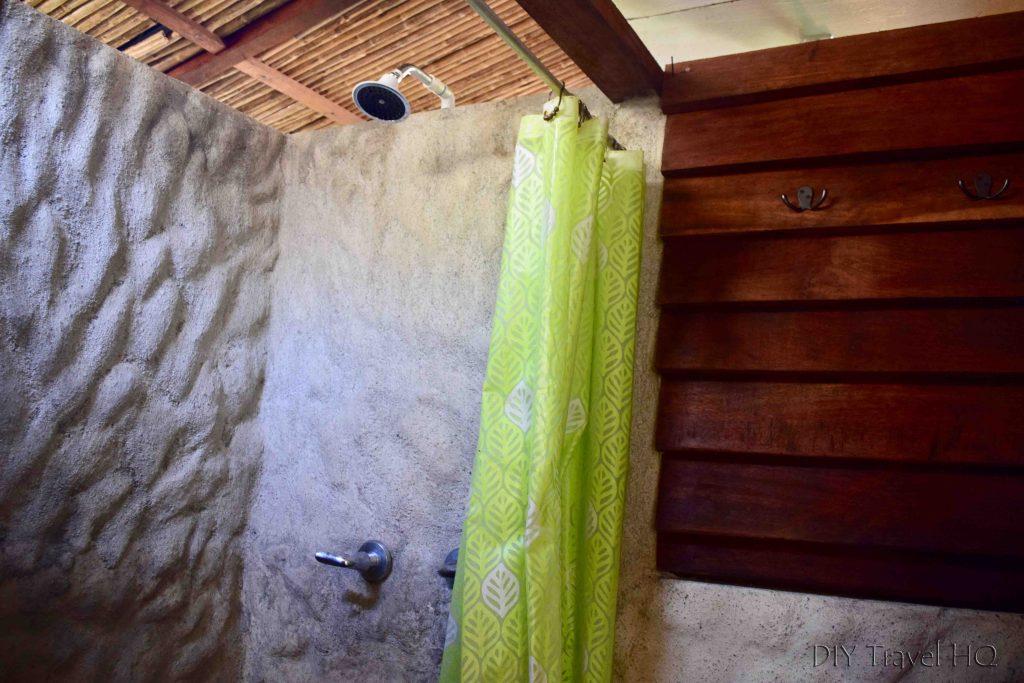 Hot shower hostel