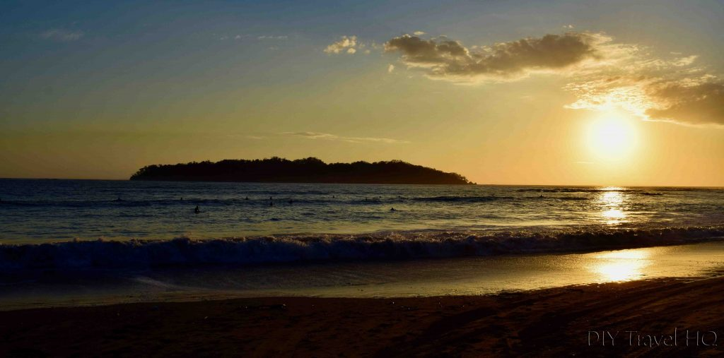Beach sunset Santa Catalina