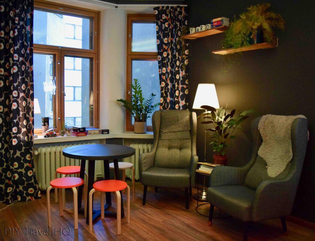 Social common room Yard Hostel