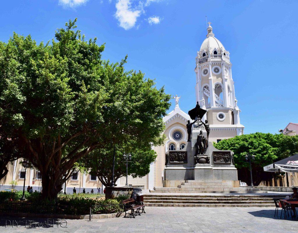 Panama City Simon Bolivar Plaza in Casco Viejo