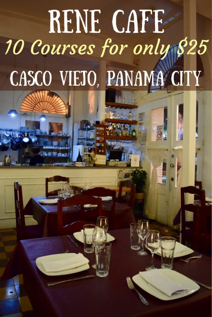 Rene Café is the best value restaurant in Panama City. For only $25 you get a 10 course degustation in the trendy Casco Viejo district. Find out what Panamanian & International fusion dishes are on the menu!