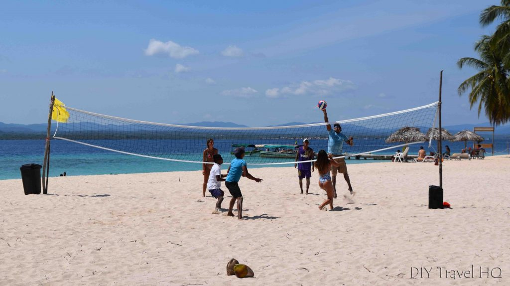San Blas Icodub Island Beach Volleyball Court