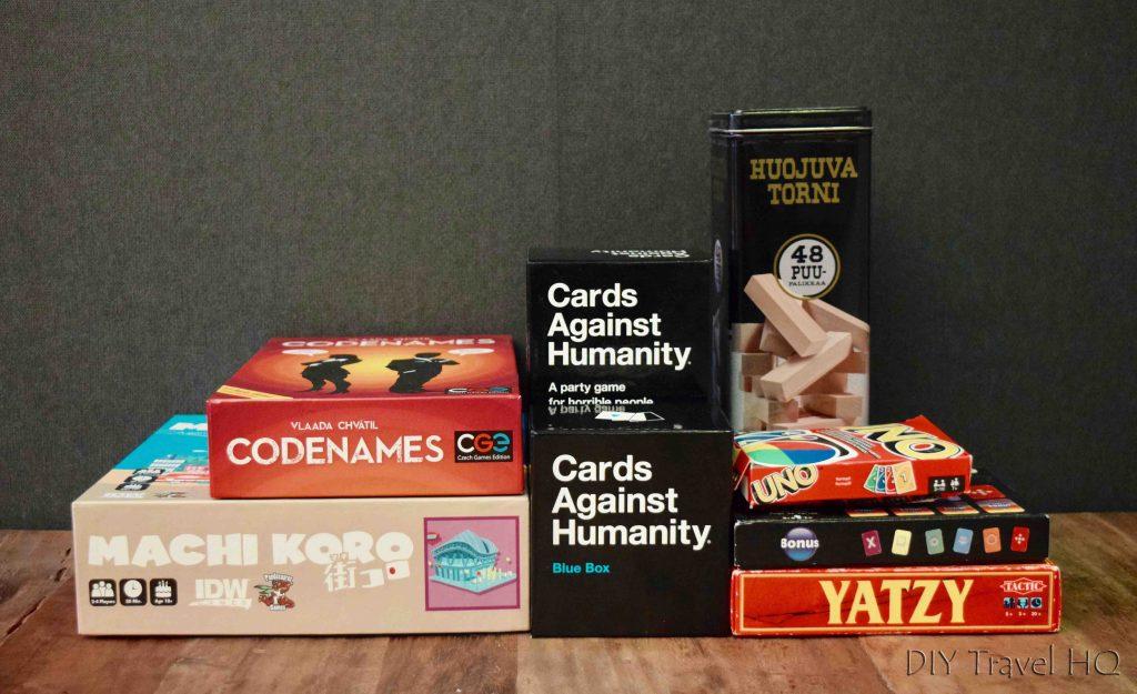 Board games at Yard Hostel