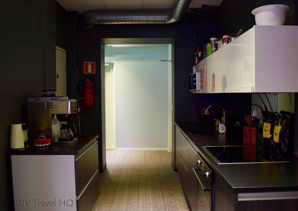 Kitchen at Yard Concept Hostel