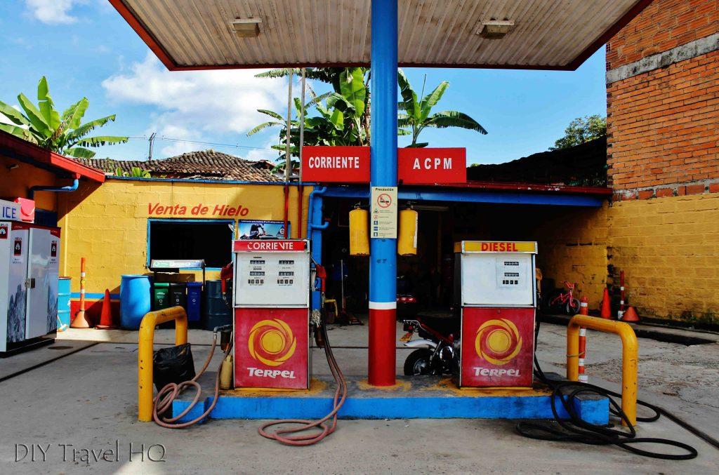 Guatape gas station