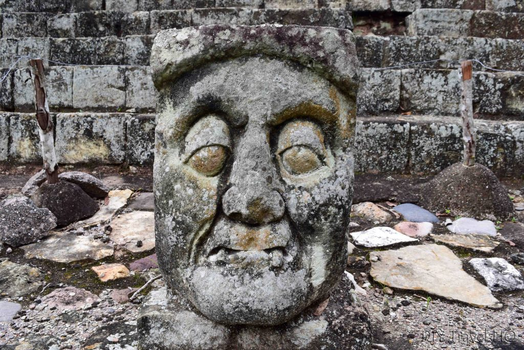 Stone head carving Copan
