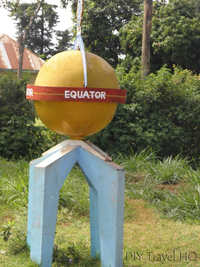 Equator marker in Kenya