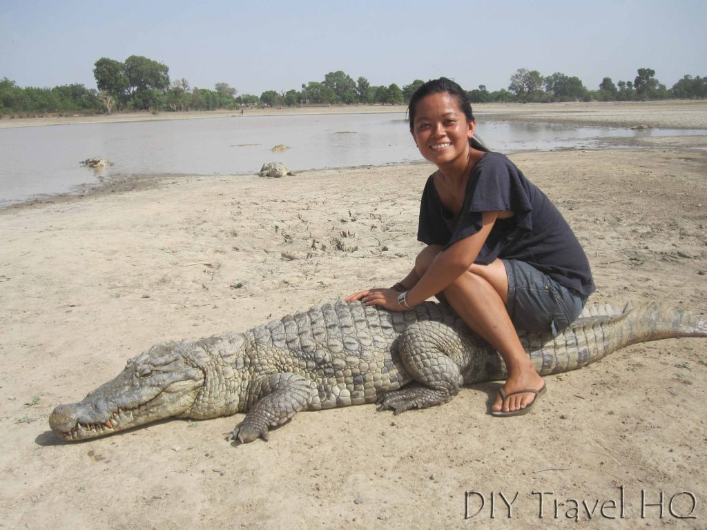 Me with crocodile
