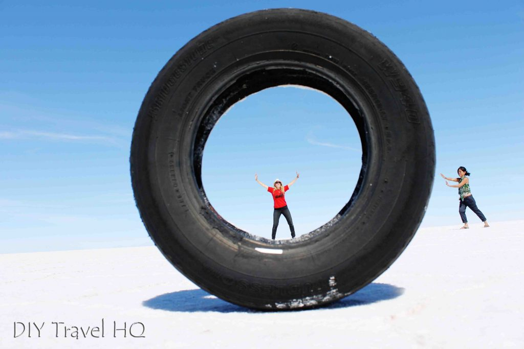 Silly perspective photo Uyuni
