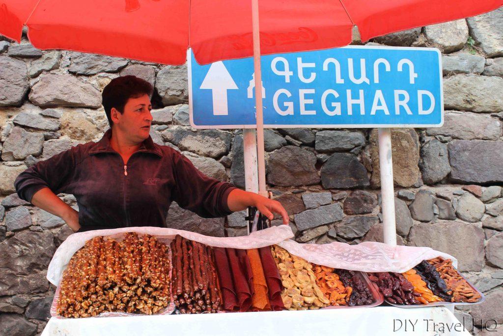 Food vendors at Geghard