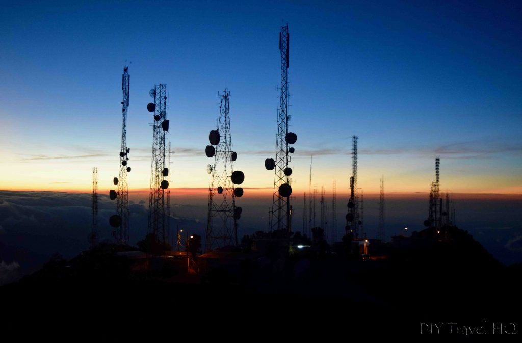 Volcan Baru Antennas at Sunrise