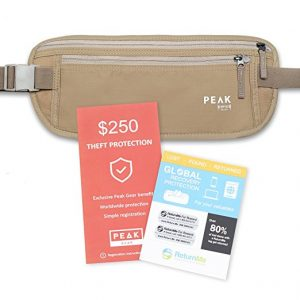 Hiking safety money belt