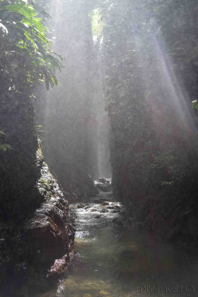 Celestine Waterfall Rays of Mist