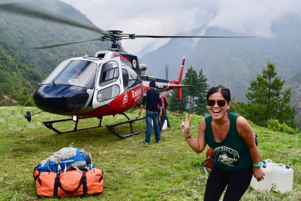 Helicopter to lukla