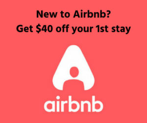 Airbnb logo $40 credit