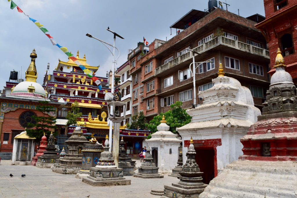 Temples at Kathesimbhu Stupa