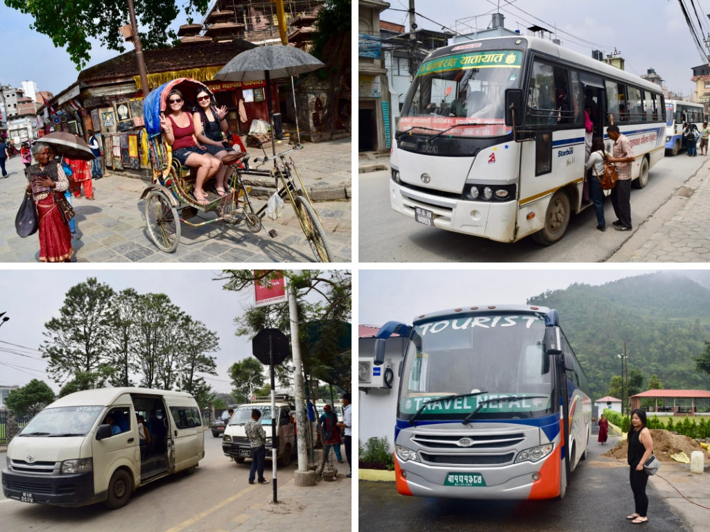 4 photos of local transport in Nepal