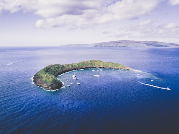 Molokini Crater birds eye view