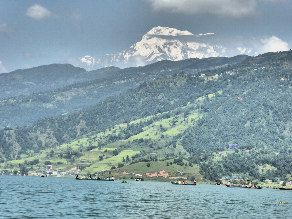 Pokhara Lake and Mountain View
