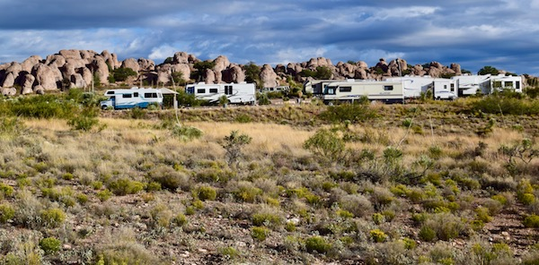 City of Rocks RV camp sites